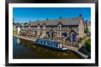 Glorious Brecon Canal Basin 1, Framed Mounted Print