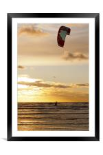 Kitesurfing to the Sun, Framed Mounted Print
