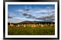 Lancaster Bombers with Fighter Escort, Framed Mounted Print