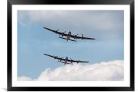 Twin Lancasters, Framed Mounted Print