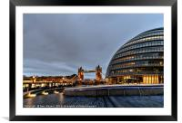 City Hall London, Framed Mounted Print