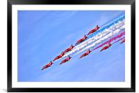 The RAF Red Arrows 3, Framed Mounted Print