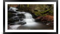 Lumsdale Waterfall, Framed Mounted Print
