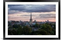 Norwich City Skyline, Framed Mounted Print