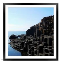 Giants Causeway, Framed Mounted Print