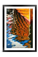 Wooden Reflections III, Framed Mounted Print