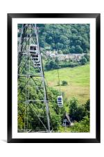 Cable Cars, Heights of Abraham, Framed Mounted Print
