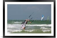 Kite Surfer 3, Framed Mounted Print