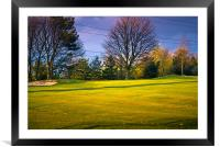 The 4th Green, Framed Mounted Print