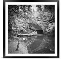 Moody reflections at Fairholmes, Framed Mounted Print