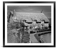 Thatched Cottage,Thornton-le-Dale, Framed Mounted Print