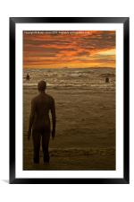 Another Place by Anthony Gormley., Framed Mounted Print