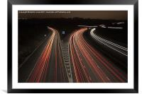 M1 Motorway Madness, Framed Mounted Print