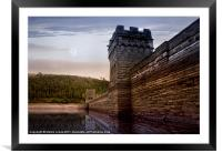 Sunset Behind the Mighty Dam, Framed Mounted Print
