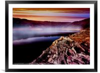 Dawn Mist over the Bower, Framed Mounted Print