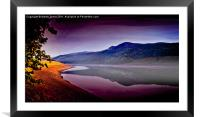 Oily Waters, Framed Mounted Print