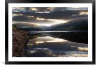 Moody Dawn over the Clough, Framed Mounted Print
