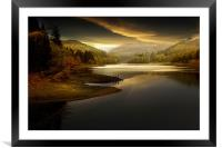 Early morning solitude, Framed Mounted Print