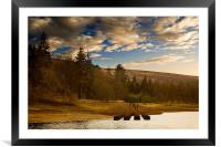 Across to Birchinlee, Framed Mounted Print