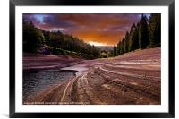 Sunset over Ouzeldon, Framed Mounted Print