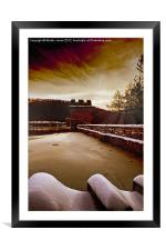 Ice on the Dam, Framed Mounted Print