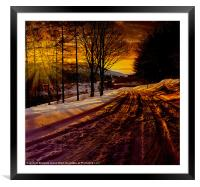 Tracks up the Valley, Framed Mounted Print
