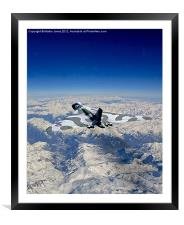 Vulcan over the Alps, Framed Mounted Print