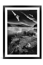 Delta Mists, Framed Mounted Print