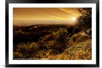 White Horse Sunset, Framed Mounted Print