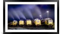 Deltic Smoke in the Night, Framed Mounted Print