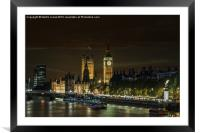 A Westminster Evening, Framed Mounted Print