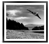 Vulcan over Derwent, Framed Mounted Print