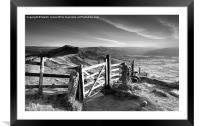 Along The Ridge to Lose Hill, Framed Mounted Print