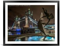 Tower Bridge, Framed Mounted Print