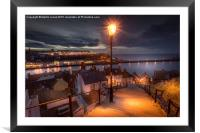 A Whitby Evening, Framed Mounted Print