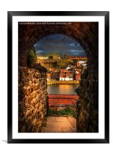 Through the Keyhole at Whitby , Framed Mounted Print