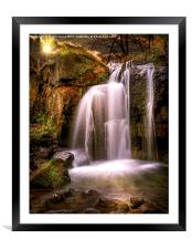 Evening over The Falls at Lumsdale, Framed Mounted Print