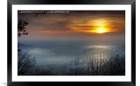 Mist over the Vale, Framed Mounted Print