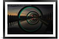 Turquoise at the Falkirk Wheel, Framed Mounted Print