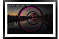 Pink at the Falkirk Wheel, Framed Mounted Print