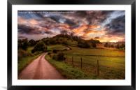 A North Yorkshire Sunset, Framed Mounted Print