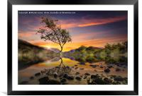 Sunrise over Llyn Padarn, Snowdonia., Framed Mounted Print