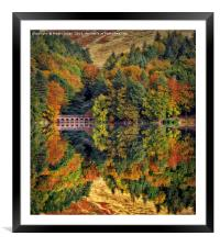 Autumnal Reflections, Framed Mounted Print