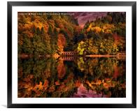 Autumnal afternoon in the Peak District, Framed Mounted Print