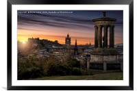 A Scottish Sunset., Framed Mounted Print