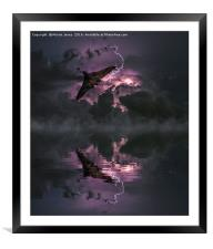 Storm chasing, Framed Mounted Print