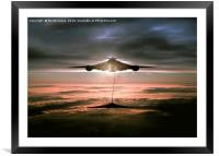 Fueling the Vulcan, Framed Mounted Print