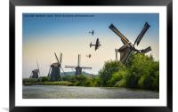 BBMF Over the Windmills Of Holland, Framed Mounted Print