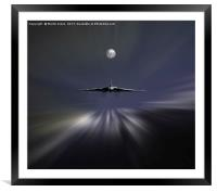Vulcan XM607 Low over the Sea at 400 mph, Framed Mounted Print