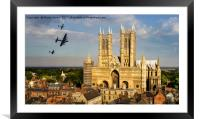 BBMF Over Lincoln Cathedral, Framed Mounted Print